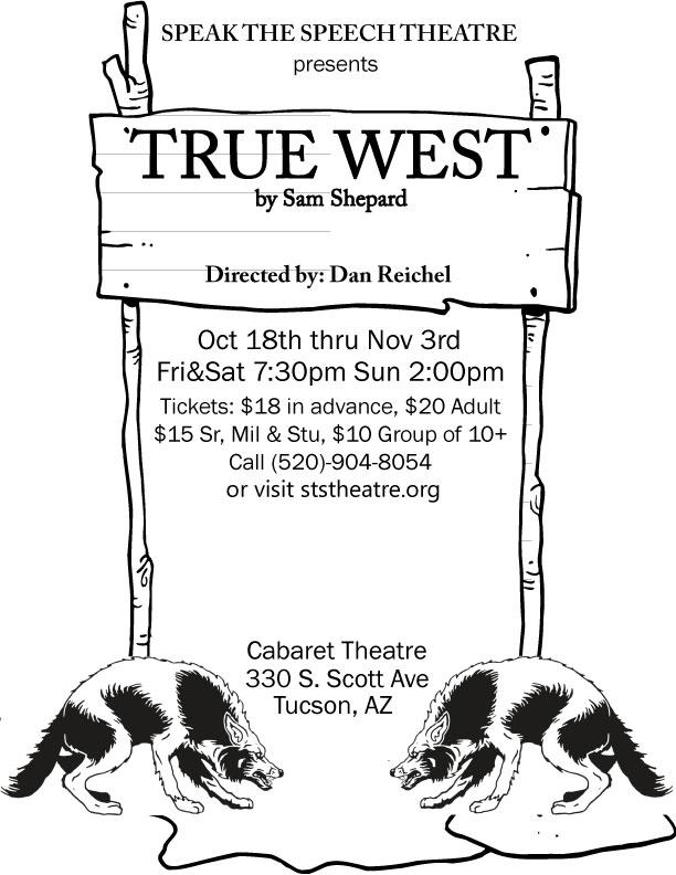Final Draft of True West Poster