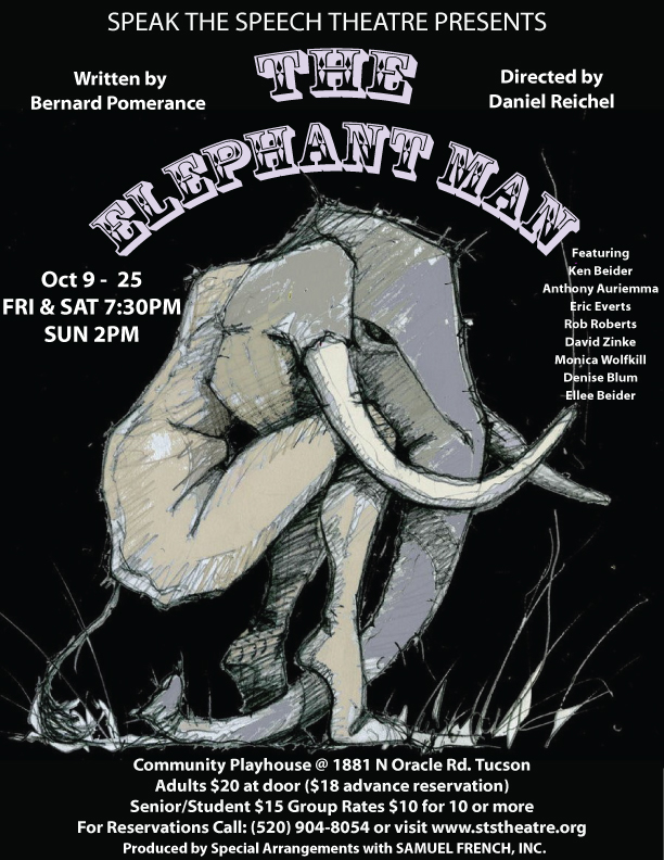 "Speak The Speech Theatre presents ""The Elephant Man"" by Bernard Pomerance and directed by Dan Reichel"