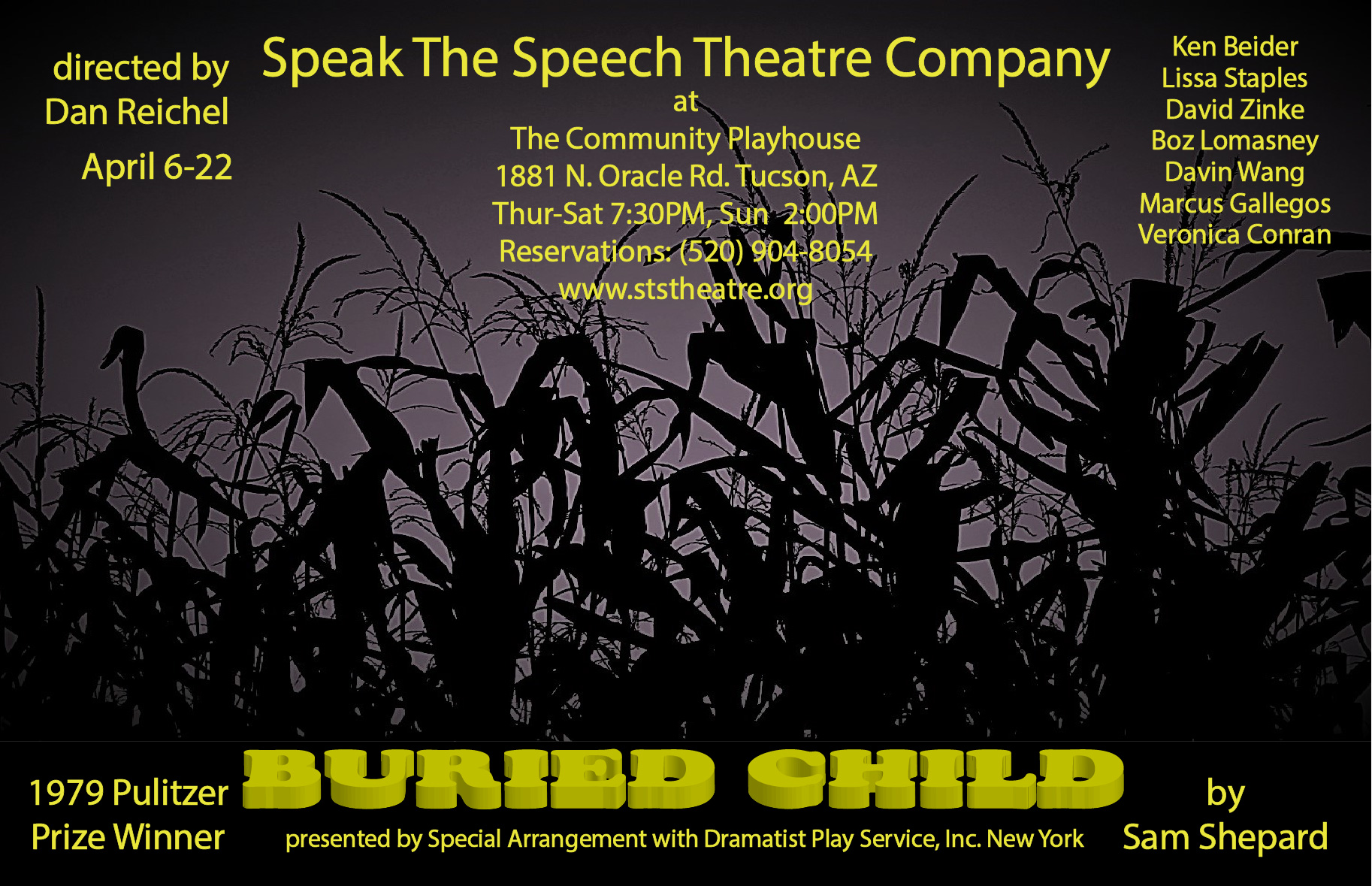 "Speak The Speech Theatre's Poster for ""Buried Child"""